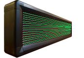 Бегущая строка Р10 296х24 см зелёная 220B USB iP65