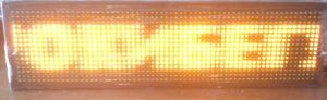 Led табло Бегущая строка P10 670х190 мм желтого свечения