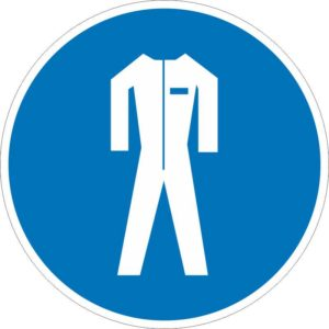 Работать в защитной одежде