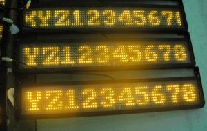 Led табло Бегущая строка P10 990х190 мм желтого свечения