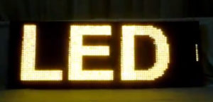 Led табло Бегущая строка P10 1040х400 мм желтая свечения