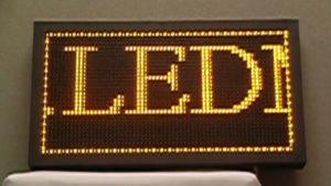 Led табло Бегущая строка P10 720х560 мм желтого свечения