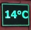 Led табло Бегущая строка P10 400х400 мм зелёного свечения