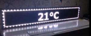 Led табло Бегущая строка P10 1680х240 мм белого свечения