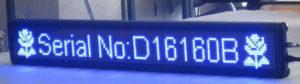 Led табло Бегущая строка P10 1680х240 мм синего свечения