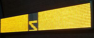 Led табло Бегущая строка P10 1680х240 мм желтого свечения
