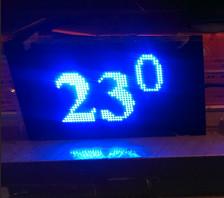 Led табло Бегущая строка P10 720х560 мм синего свечения