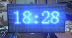 Led табло Бегущая строка P10 720х400 мм синего свечения